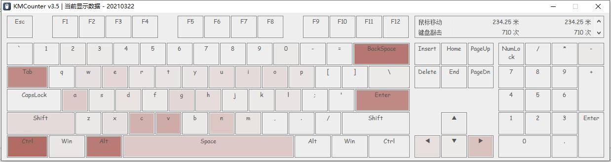 KMCounter – 使用热力图显示鼠标与键盘使用情况的工具