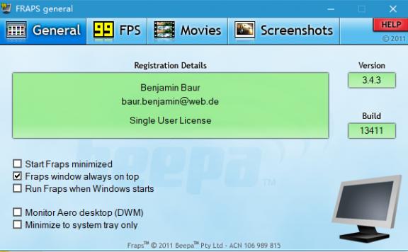 FPS显示器
